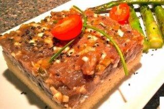 Receta de tartar de atún sobre cuscús