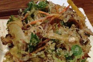 Receta de tempura de gambas y puerro