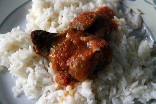 Receta de ternera guisada con arroz blanco