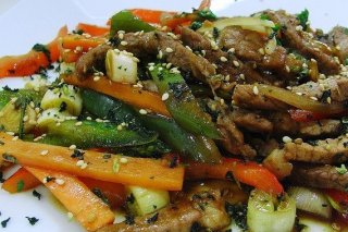 Receta de ternera salteada con verduras