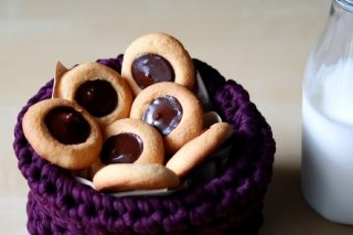 Receta de thumbprints de chocolate
