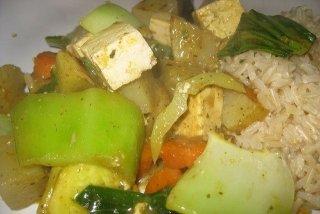 Receta de tofu al curry