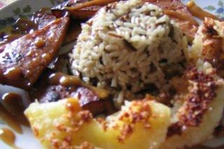 Receta de tofu con piña