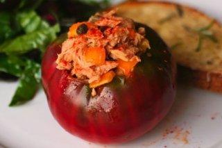 Receta de tomates rellenos de atún y arroz