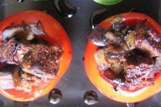 Receta de tomates rellenos de berenjena