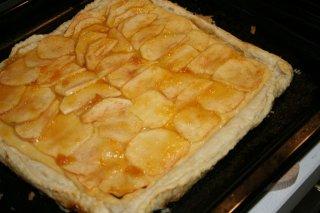 Receta de torta de manzana y nueces