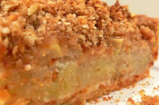 Receta de torta haragana de manzana