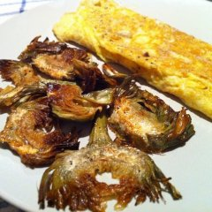 Receta de tortilla de alcachofas