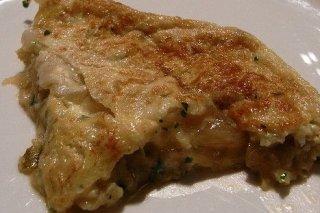 Receta de tortilla de bacalao con cebolla