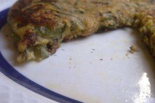 Receta de tortilla de calabacín y bacón