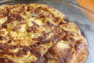Receta de tortilla de papas con queso