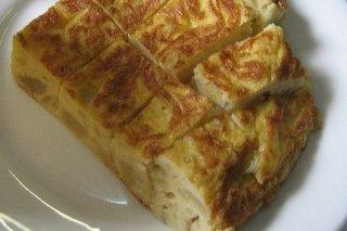 Receta de tortilla de patata y bacalao
