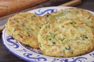 Receta de tortilla de patatas con patatas confitadas