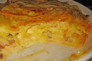 Receta de tortilla de patatas con queso al horno