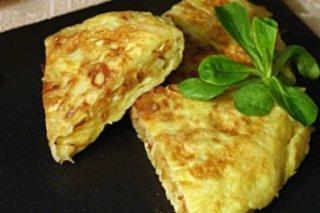 Receta de tortilla de patatas paja