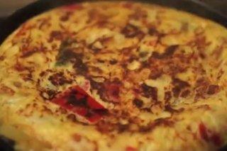 Receta de tortilla de patatas y pimientos