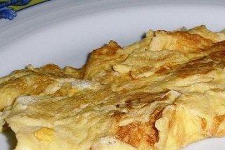 Receta de tortilla francesa con jamón