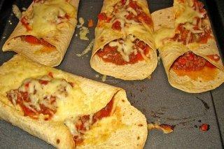 Receta de tortillas mexicanas rellenas de carne