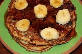 Receta de tortitas de plátano y chocolate