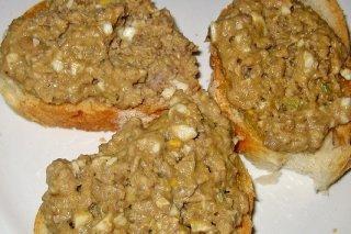 Receta de tosta con paté de pato y arroz