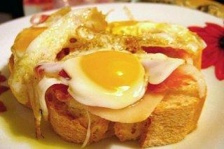 Receta de tosta de huevo de codorniz