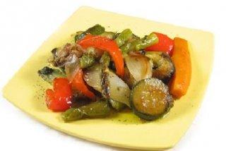 Receta de verduras a la plancha con queso de cabra