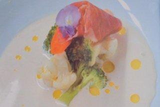 Receta de verduras con salsa de jamón ibérico