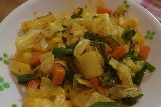 Receta de verduras salteadas al curry