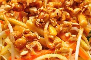 Receta de verduras salteadas con cacahuetes