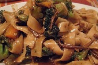 Receta de wok de cintas con verduras