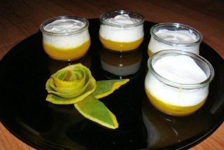 Receta de yogur con crema de mango