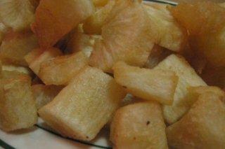 Receta de yuca cocida y frita