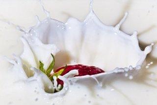 Receta de zumo de fresas con leche