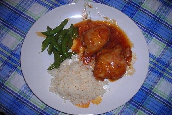 Receta de adobo de pollo con arroz