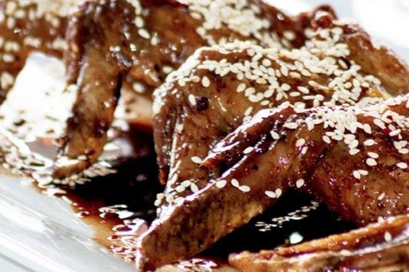 Receta de alitas de pollo con ajonjolí