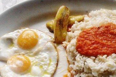 Receta de arroz a la cubana