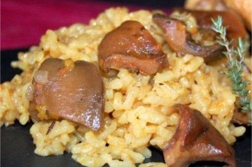 Receta de arroz con níscalos