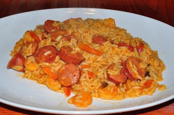 Receta de arroz con salchichas