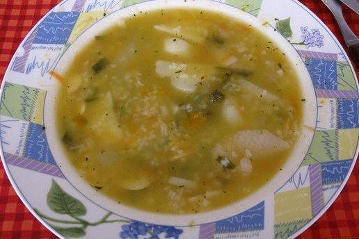 Receta de arroz con verduras caldoso