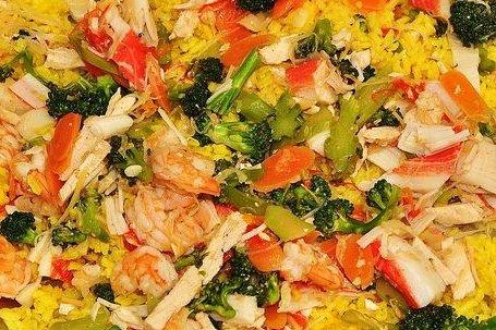Receta de arroz con verduras y gambas