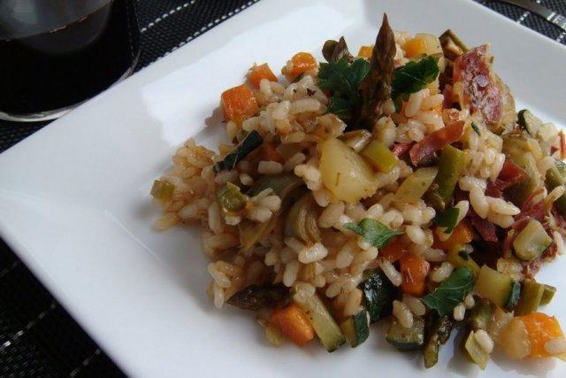 Receta de arroz con verduritas