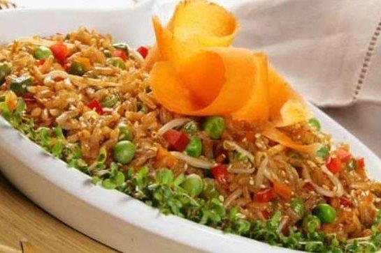 Receta de arroz estilo asiático