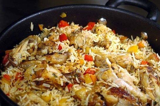 Receta de arroz navideño