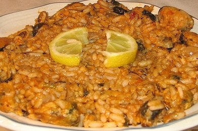 Receta de arroz y mejillones