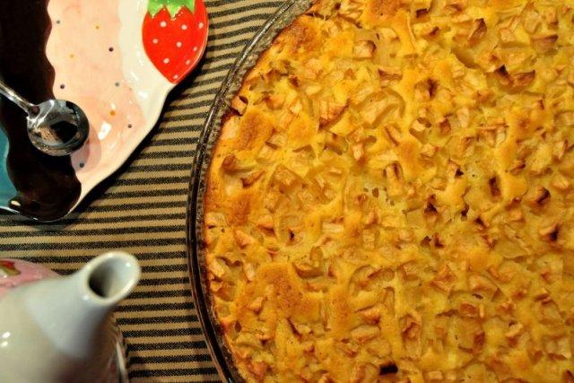 Receta de bizcocho de manzana con nueces