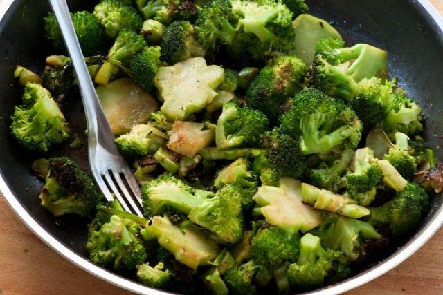 preparación de brocoli
