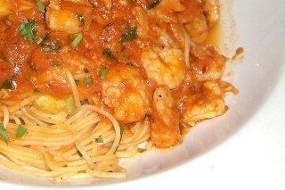 Receta de camarones con espaguetis