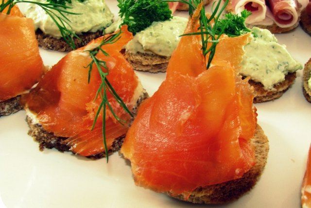Receta de canapé de salmón