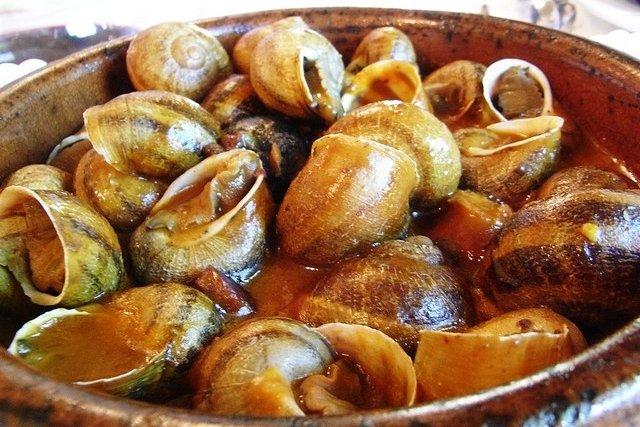 Receta de caracoles en salsa