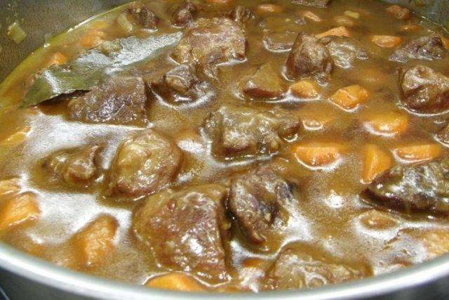 Receta de carne en salsa